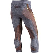Uyn Ambityon Pants Medium Melange - Funktionsunterhose 3/4 lang - Herren, Grey/Yellow/Orange