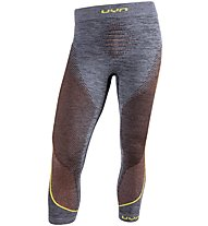 Uyn Ambityon Pants Medium Melange - calzamaglia - uomo, Grey/Yellow/Orange