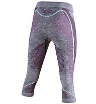 Uyn Ambityon Pants Medium Melange - Funktionsunterhose 3/4 lang - Damen, Grey/Light Blue/Pink