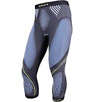 Uyn Evolutyon Pants Medium Melange - Funktionsunterhose 3/4 lang - Herren, Grey/Blue/Yellow