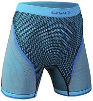 Uyn Running Alpha OW Pants - pantaloncini running - donna, Blue/Black