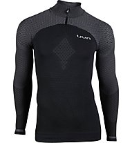 Uyn Running Alpha OW - maglia running 1/4 zip - uomo, Black
