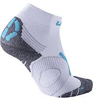Uyn Super Fast Run - calzini corti running - donna, White/Blue