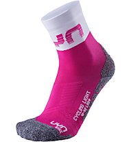 Uyn L Cycling Light SCKS - calzini da ciclismo, Pink/White/Grey