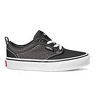Vans YT Atwood Slip-On Mesh/Canvas - sneakers - bambino, Black/White