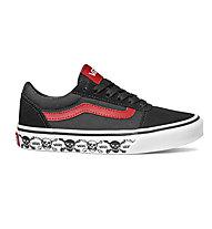Vans YT Ward Skull - sneakers - bambino, Black/Red