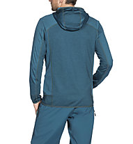 Vaude Back Bowl Fleece - giacca in pile con cappuccio - uomo, Blue
