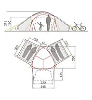 Vaude Badawi 4P - Campingzelt, Beige