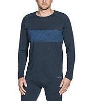 Vaude Base LS - maglia a maniche lunghe - uomo, Blue