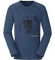 Vaude Boys Paul LS Shirt Jungen Langarm T-Shirt, Blue