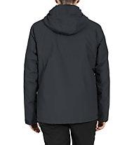 Vaude Caserina 3in1 II - giacca con cappuccio - uomo, Black/Grey