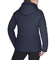 Vaude Caserina 3-in-1 - giacca doppia con cappuccio - donna, Blue