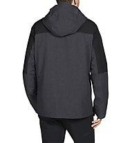 Vaude Caserina 3IN1 - giacca con cappuccio - uomo, Black/Grey
