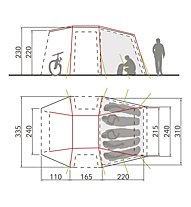 Vaude Drive Van XT 5P - Zeltvorraum für Camper, Beige