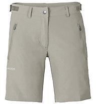 Vaude Farley Stretch Short - pantaloni corti trekking - donna, Light Grey