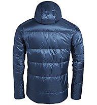Vaude Kabru Hooded - giacca in piuma - uomo, Blue/Green