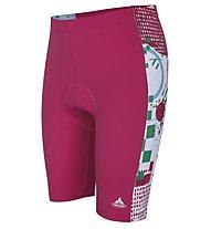 Vaude Kids Elmo Pants Pantaloni corti ciclismo Bambino, Raspberry