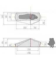 Vaude Lizard GUL 1P - Tenda da 1 persona
