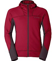 Vaude M Basodino Hooded Jkt Giacca in pile, Red