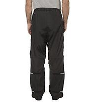 Vaude Me Fluid full Zip - pantaloni antipioggia - uomo, Black