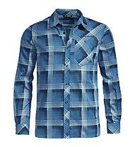 Vaude Neshan III - camicia a maniche lunghe - uomo, Blue/Light Blue
