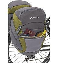 Vaude Ontour Back - borse bici, Grey/Green
