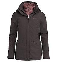 Vaude Skommer 3in1 - giacca con cappuccio - donna, Brown/Rose