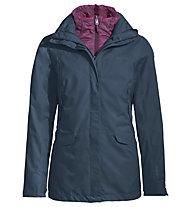 Vaude Skommer 3in1 - giacca con cappuccio - donna, Dark Blue/Purple