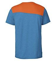 Vaude Sveit Shirt Herren Wandershirt kurzärmelig, Orange/Light Blue