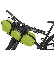 Vaude Trailfront - borsa manubrio Bikepacking, Black/Green