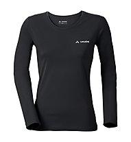 Vaude W Brand LS - maglia a maniche lunghe - donna, Black