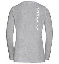 Vaude W Brand LS - maglia a maniche lunghe - donna, Grey