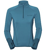 Vaude Livigno - Fleecepullover mit kurzem Reißverschluss - Damen, Light Blue