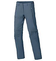 Vaude Women's Farley Stretch ZO T-Zip Pants Damen Wander- und Trekkinghose, Blue