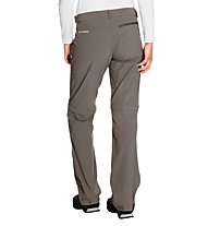 Vaude Women's Farley Stretch ZO T-Zip Pants Damen Wander- und Trekkinghose, Brown