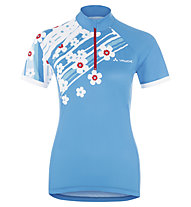 Vaude Women's Florica Tricot Maglia ciclismo Donna, Teal Blue/Red