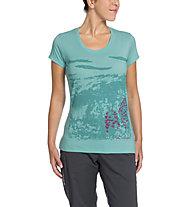 Vaude Gleann Shirt III T-Shirt trekking Donna, Icewater