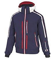 Vuarnet B-Verdun Blouson - giacca da sci - uomo, Blue/Red