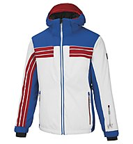 Vuarnet M-Bruniquel Skijacke, White Sail/Ski Royal/Red