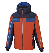 Vuarnet M-Bruniquel Skijacke, Cherry Tomato/Sail Navy/Ski Royal