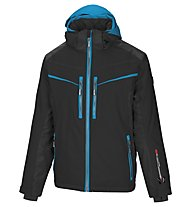 Vuarnet Giacca sci M-Callac Jacket Man, Black/Turquoise