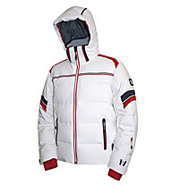 Vuarnet M-Catullo Man Skijacke, White Sail/Red/Sail Navy