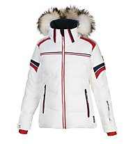 Vuarnet M-L Shelley Lady Daunen-Skijacke für Damen, White Sail/Red/Sail Navy
