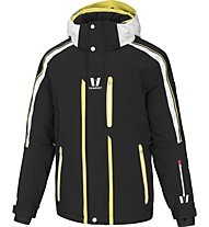 Vuarnet M-Lunel Man Skijacke, Black/White Sail/Lemon