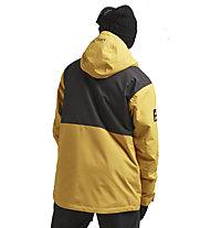 Colourwear Block - giacca da sci - uomo, Yellow/Grey