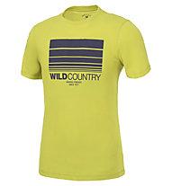 Wild Country Flow M - T-shirt arrampicata - uomo, Yellow/Blue