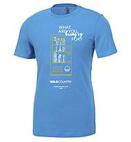 Wild Country Flow M - T-shirt arrampicata - uomo, Light Blue/Orange