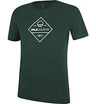 Wild Country Flow M - T-shirt arrampicata - uomo, Dark Green/White