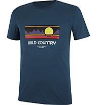 Wild Country Flow M - Herren-Kletter-T-Shirt, Navy/Multicolor