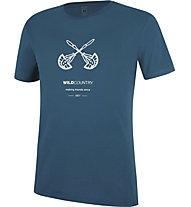 Wild Country Flow M - T-shirt arrampicata - uomo, Navy/White